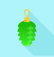 green toy fir tree icon flat style vector image vector image