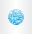 grunge blue globe background vector image vector image