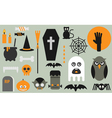 halloween flat icons vector image vector image