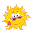 happy sun with shades vector image vector image