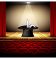 hat magician on stage vector image vector image