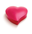 heart shaped chocolate box 3d vector image