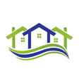 home real estate business logo vector image vector image