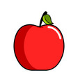 isolated apple icon vector image vector image