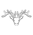isolated outline of a reindeer vector image