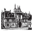 jacques coeurs house in bourges romanesque vector image vector image