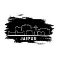 jaipur india city skyline silhouette hand drawn vector image vector image