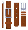 leather belt for men vector image