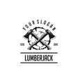 lumberjack vintage vector image vector image