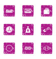 lure for money icons set grunge style vector image vector image