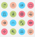 management icons set collection of arrow vector image vector image