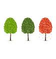 maple tree set vector image