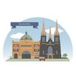 Melbourne vector image