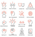 Mental process icons -2 vector image