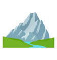 mountain peak snow-capped adventure and extreme vector image
