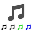 music notes flat icon vector image vector image