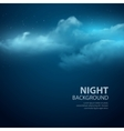 Night sky abstract background vector image