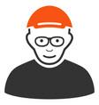 pensioner flat icon vector image