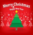 pine tree and snow theme merry christmas vector image