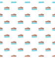 Red futuristic car pattern cartoon style vector image