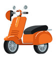 retro moped icon in flat design vector image vector image