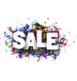 sale sign with colorful serpentine vector image vector image
