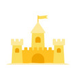 sand castle flat icon isolated on white vector image vector image