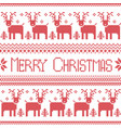 Scandinavian merry christmas nordic pattern vector image vector image