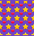 seamless pattern with color cartoon stars and vector image vector image