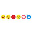 set emoticon for social media emoji icons vector image