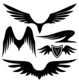 set of black wings vector image vector image