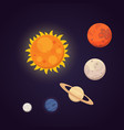 set of colorful bright planets solar system vector image vector image