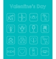 Set of Valentines Day simple icons vector image vector image