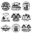 set outdoor adventure quotes symbol concept vector image vector image