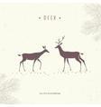 stylized deer vector image vector image