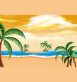 summer beach landscape sunset vector image vector image