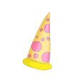 tasty yellow a slice of pizza cartoon icon vector image vector image