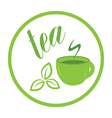 tea time label vector image vector image