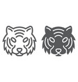 tiger line and glyph icon animal and zoo vector image
