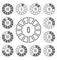 Timer Icons Set Gray vector image vector image