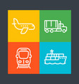 transportation industry line icons vector image vector image