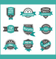 turquoise label marketing set of 3 vector image vector image