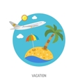 Vacation Flat Icon vector image vector image