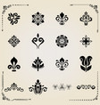 vintage set of elements vector image vector image