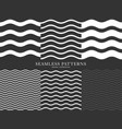 waves geometric seamless patterns vector image vector image