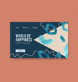 website template with shopping design vector image vector image