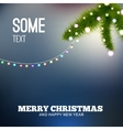 Christmas background with lights Christmas tree vector image