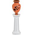 vase on column vector image