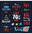 Bright Christmas sale vintage text labels vector image