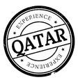 Qatar stamp rubber grunge vector image